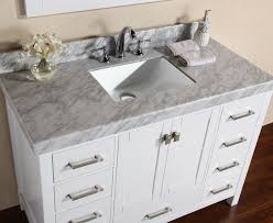 malibu white single modern bathroom vanity with side cabinet and