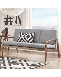 Curved Arm Sofa Amazing Deal On Alaina Curved Arm Sofa Upholstery Gray Frame