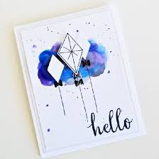handmade watercolor cards watercolor on a handmade card crafthubs