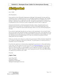 research questionnaire cover letter sample example cover letter