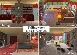 mod the sims fallingwater at bear run no cc version