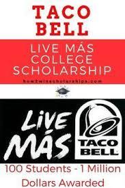 best 25 taco bell scholarship ideas on pinterest foakley