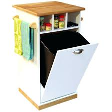 kitchen island with garbage bin kitchen island trash bin storage portable with table can cabinet