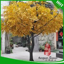 tronc d arbre artificiel en gros 3 mètres artificielle ginkgo arbre tissu feuille d u0027arbre