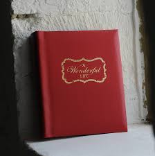 Adhesive Photo Album Personalised U0027a Wonderful Life U0027 Leather Album By Oh So Cherished