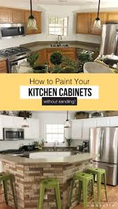 painting kitchen cabinets tutorial how to paint kitchen cabinets without sanding lz cathcart
