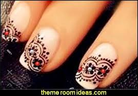 Nail Art Lace Design Decorating Theme Bedrooms Maries Manor Nail Art Lace Themed