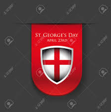 Englang Flag St George Day England Flag Shield Royalty Free Cliparts Vectors