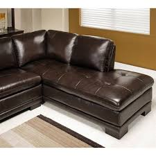Abbyson Leather Sofa Reviews Abbyson Living Tekana 2 Leather Sectional In Brown Ci