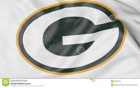 Green Bay Packer Flag Close Up Of Waving Flag With Green Bay Packers Nfl American
