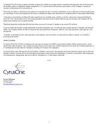 cyrusone 2016 q4 results earnings call slides cyrusone