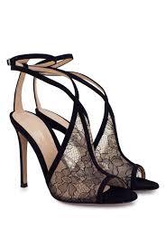 gianvito rossi black suede sandals laprendo
