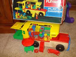 Playskool Cobblers Bench Vintage 1972 Playskool Wooden Rv Camper Camping Playset Vintage