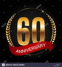 60 years anniversary template logo 60 years anniversary vector illustration stock