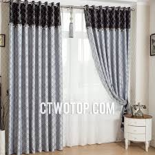 Striped Blackout Curtains Interesting Striped Blackout Curtains And Awning Black White For