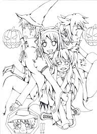 Halloween Coloring Pages Adults Halloween Coloring Pages Page For Adults With Very Detailed