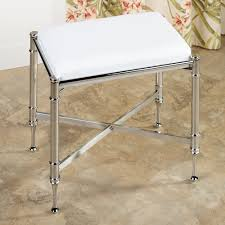 Bathroom Vanity Benches And Stools Chrome Vanity Bench Militariart