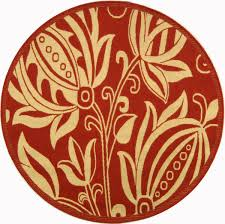 Round Red Rug Vibrant Red Outdoor Rug Courtyard Collection Safavieh