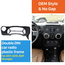 2017 jeep wrangler dashboard dash car radio fascia frame accessory mount kit panel for 2016
