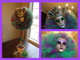 cheap mardi gras diy mardi gras tulle topiary decorating idea 2015