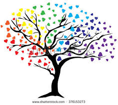 rainbow tree stock images royalty free images vectors