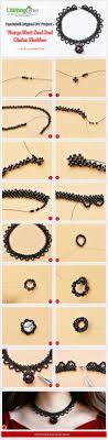 black seed bead necklace images Original diy project vintage black seed bead choker necklace jpg