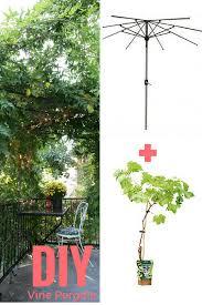 Vine Trellis Ideas Fabriquer Une Pergola Avec Un Vieux Parasol Pergolas Pergola