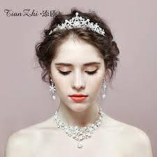 wedding hair pieces usd 24 13 add quality crown tiara bridal jewelry 2018 new wedding