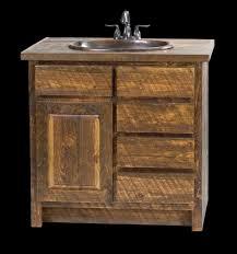 Rustic Wood Bathroom Vanity - rustic reclaimed barnwood bathroom vanity design ideas wood top