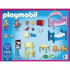 chambre d enfant pas cher 5306 chambre d enfants avec lits superposés playmobil pas cher à
