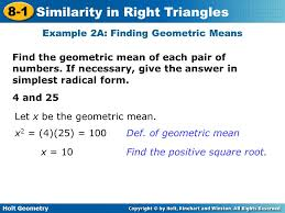 holt geometry 8 1 similarity in right triangles 8 1 similarity in