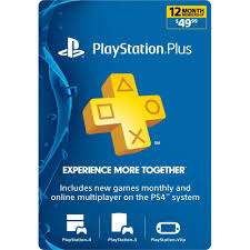 ps4 gift card sony playstation plus 1 year psn membership gift card code