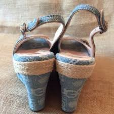 ugg noella sale 69 ugg shoes ugg noella espadrille wedge denim from