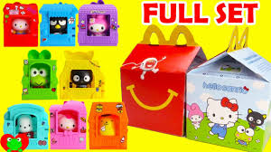 2016 hello sanrio mcdonald s happy meal toys hello set