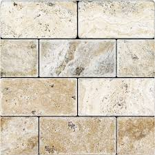 Tumbled Marble Kitchen Backsplash by Tumbled Travertine 3x6 Picasso Tile Stores Travertine And Glass