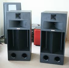 cabinet for home theater equipment very special pair of klipsch la scala speakers birch ply cabinets