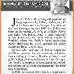 example obituary sample of obituary michigan2c hillsdale county2c
