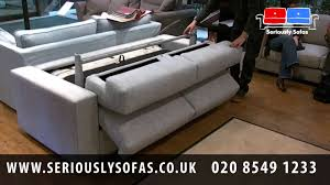 Uk Sofa Beds Lario Italian Made Sofa Bed Youtube