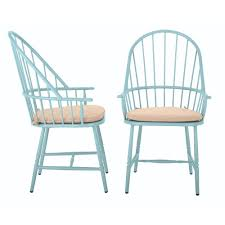 Turquoise Patio Furniture by Blue Outdoor Dining Chairs Patio Chairs The Home Depot
