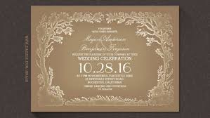 vintage wedding invitation vintage wedding invitations rectangle landscape brown floral