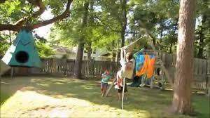 Backyard Zip Line Diy Ninja Warrior Kids Zip Line Kids Backyard Obstacle Course Youtube