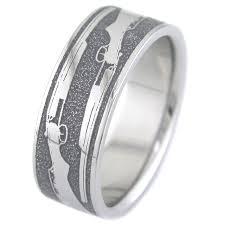 the shotgun wedding ring unique titanium rings more titanium