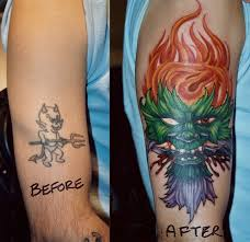 looking for unique color tattoos tattoos green man cover