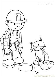 bob builder coloring 07 coloring free bob