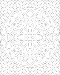 unbelievable geometric mandala coloring pages with advanced