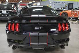 Black Mustang Grey Stripes Mustang Gt U2014 Sd Wrap
