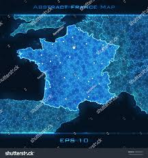 Maps For Business Cards France Abstract Map Highlighted France Vector Stock Vector