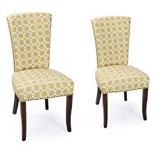 Side Chairs Living Room joveco green floral living room side chairs dining chair with