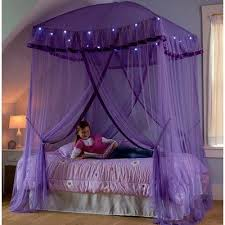 bed tent with light hearthsong sparkling lights bed canopy color purple canopy light