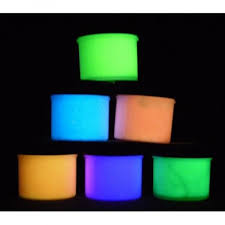 glow in the dark acrylic paint six color set glomania